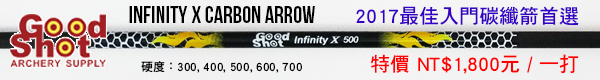 2017 Goodshot Infinity X Carbon Arrow